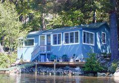 Blue Maine lake cottage