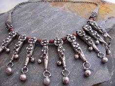 Antique Bawsani Jewish Silver Yemen Necklace by ArabiaEmporium, €370.00