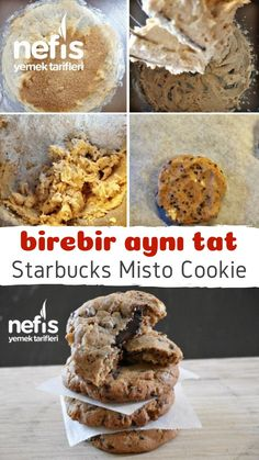 Starbucks Misto Cookie (Exactly Same Taste) – Delicious Recipes - Cooking Starbucks Cookies, Starbucks Recipes, Subway Cookies, Wie Macht Man, Tasty, Yummy Food, Food Words, Cupcake Cookies, Cookie Recipes
