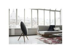 BeoPlay A9 Black with walnut legs | iSETOS - Apple Premium Reseller