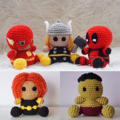 Pack 5 en 1: Flash, Thor, Deadpool, Viuda Negra, Hulk Amigurumi Superhéroe Marvel Sencillo Fácil Crochet Ganchillo Tutorial de Amigurumeria en Etsy