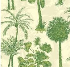 Coconut Grove Emerald is a gorgeous paper with palms in a deep green colour. This paper is $149 per roll and available at www.wallcandywallpaper.