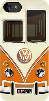 Orange Volkswagen VW iPhone case