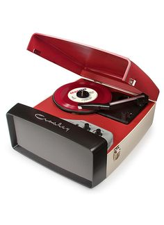 Collegiate Portable USB Turntable - Red