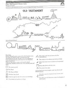 story line for Old Testament.... great looking blog