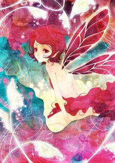 fairy,art,fada,mistico,fantasia,anime