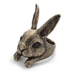 Handmade rabbit ring Kir ($50-100) ❤ liked on Polyvore