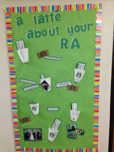 Get to know your RA bulletin board, Sheehan Hall August 2013