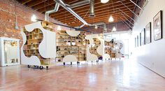 brooklyn-based UP studio constructs adaptable sneaker boutique in LA - designboom | architecture