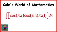 Integral of cos(πx)cos(sin πx) ❖ Calculus 1 ❖ Trig Integrals