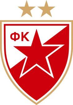Red Star Belgrade of Serbia crest. Football Team Logos, Soccer Logo, Sports Logo, Football Soccer, Soccer Teams, Basketball, Soccer World, World Football, Final Do Mundial