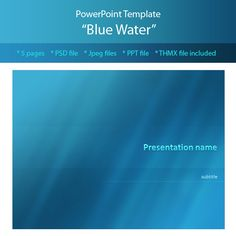 water - powerpoint templates presentation templates | layout, Spe Presentation Template, Presentation templates