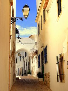 A walk in the old town, Albufeira,  Portugal.