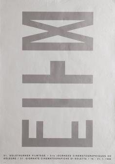 Solothurner Filmtage, 1996 Schweiz. Gesellschaft Solothurner Filmtage