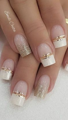 100 Beautiful wedding nail art ideas for your big day - Kristina S. - 100 Beautiful wedding nail art ideas for your big day 100 Beautiful wedding nail art ideas for your big day - wedding nails bride nails nail art romantic nails pink nails - Romantic Nails, Elegant Nails, Classy Nails, Cute Nails, Diy Nails, Acrylic Nail Designs, Nail Art Designs, Acrylic Nails, Coffin Nails