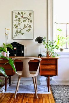 Discover inspiration for your home office design with ideas for decor, storage . Convert a small spaceto a polished eye-catching and functional home office. Home Office Design, Home Office Decor, House Design, Home Decor, Office Ideas, Office Designs, Office Furniture, Furniture Decor, Interior Design Trends