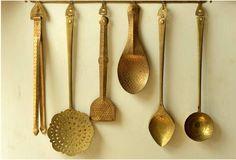 traditional brass kitchenware