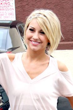 Chin length hair ... Chelsea Kane - cute! My face is so much longer, it's hard to get this look right on me...