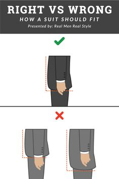 Proper suit jacket length