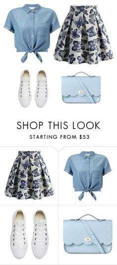 """Spring look"" by mrsaguirre ❤ liked on Polyvore featuring Chicwish, Miss Selfridge, Converse and The Cambridge Satchel Company"
