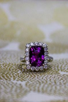 18 Emerald Engagement Rings For A Perfect Finger ❤ emerald engagement rings halo white gold purple sapphire ❤ More on the blog: https://ohsoperfectproposal.com/emerald-engagement-rings/