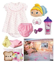 """""""Bed Time Wif Mommy!"""" by be-robinson ❤ liked on Polyvore featuring Petit Bateau, Ultimate, Disney, Hello Kitty, Toast and Munchkin"""