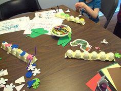 Cute caterpillar ideas.