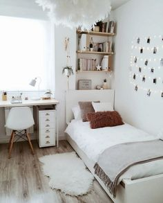 Room Ideas Bedroom, Small Room Bedroom, Home Decor Bedroom, Diy Bedroom, Bedroom Inspo, Bedroom Storage, Bedroom Designs, Girls Bedroom, Bedroom Ideas For Small Rooms