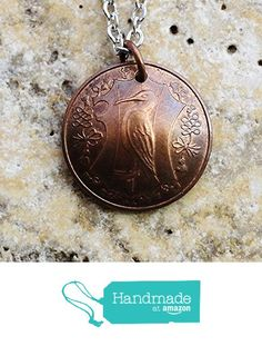 Domed Coin Necklace Isle of Man Pendant 1 Penny 1985 from Hendywood