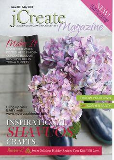 Read the new jCreate #Magazine. #jewish #crafting #crafts #kosher #recipes #projects #diy