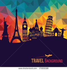 Travel and tourism background by Katsiaryna Andronchyk, via Shutterstock