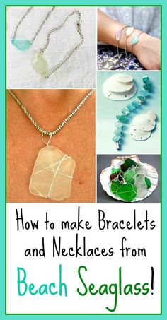 The same way you can Make Seashell Jewelry with a precious shell or a shell collection, hand picked from the beach, you can turn Sea Glass pieces into gorgeous bracelets . Read moreHow to Make Jewelry from Beach Sea Glass Seashell Jewelry, Beach Jewelry, Diy Jewelry, Jewelry Gifts, Jewelry Stores, Jewellery Shops, Fashion Jewelry, Jewellery Box, Jewelery