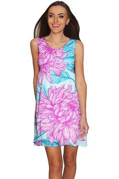 Floral Bliss Sanibel Empire Cut Summer Dress - Women
