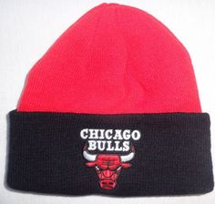6b3351bfd91  10.99 - Chicago Bulls Basketball Red Black Cuff Beanie Stocking Cap Hat   ebay  Collectibles