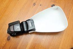 DIY Photography Hacks - make a foam flash diffuser...