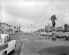 A view along Queen's Parade, Clifton Hill in Melbourne taken in July A Marshalite traffic control signal is seen on the right Melbourne Architecture, Australian Photography, Clifton Hill, Melbourne Suburbs, History Photos, History Timeline, Beach Road, Melbourne Victoria, New City