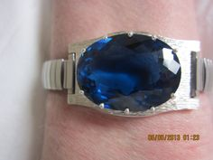 My 72-carat blue sapphire. To be worn on the wrist only, never near the heart This stone helped me discover more of my Self and put me on the path to a fascinating new career that I never would have anticipated.