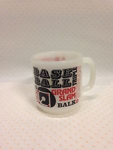 Vtg Baseball Coffee Mug Cup White Milk Glass Glasbake | eBay