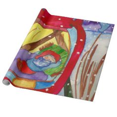 Elf Lantern Wrapping Paper Head Start, Party Hats, Funny Cute, Elf, Lanterns, Birthday Parties, Art Pieces, Birthdays, Wraps
