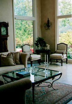 Tuscan Style Living Room Los Gatos California