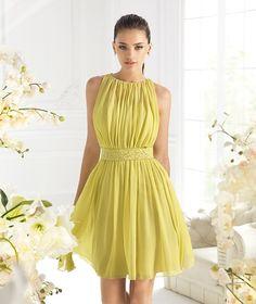 Romantic Short/Mini Zipper A-Line Chiffon Nice Sexy Dresses Yellow Party Dresses, Yellow Dress, Cute Dresses, Beautiful Dresses, Casual Dresses, Short Dresses, Fashion Dresses, Formal Dresses, Chiffon Dresses