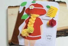 Braiding Hair Quiet book Page  Busy Book by TheHandmadeforAngels