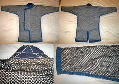 Antique Edo period samurai kusari katabira (chain armor jacket).