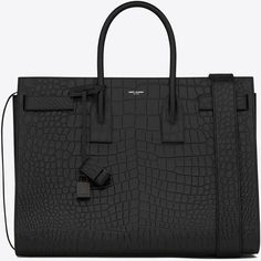 Saint Laurent Large Sac De Jour Carry All Bag ($3,305) ❤ liked on Polyvore featuring men's fashion, men's bags, mens pouch bag and mens leather bags