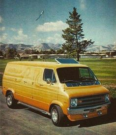 Customized 70's Dodge van