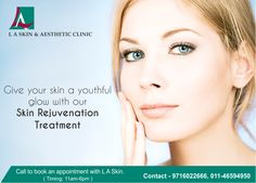 Give your skin a youthful glow with our Skin Rejuvenation Treatment.  Prevention is always better than cure. Get the Skin Rejuvenation treatment at  L A Skin, it will give your skin a youthful glow and prevent it from ageing. Book an appointment, NOW.