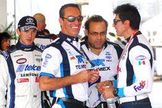 Carlos Slim Domit, Claudia Álvarez y Diego Olivera, una tarde de adrenalina en la carrera Nascar Toyota Series