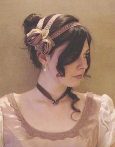 CUSTOM Regency Jane Austen 3 strap Headband hairpiece Ball hat headpiece FANCY. $40.00, via Etsy.
