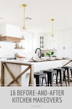 These before-and-after kitchen makeovers will leave you speechless. See these kitchens go from dingy and dated to breathtaking beauties.