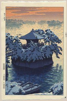 """Snow at Matsushima"" by Kasamatsu, Shiro"